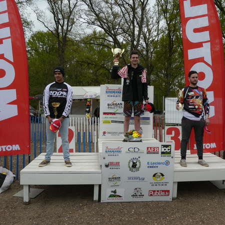 Podium Championnat de Ligue 125 cc