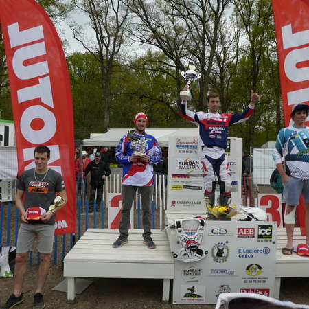 Podium Championnat de France MX 1